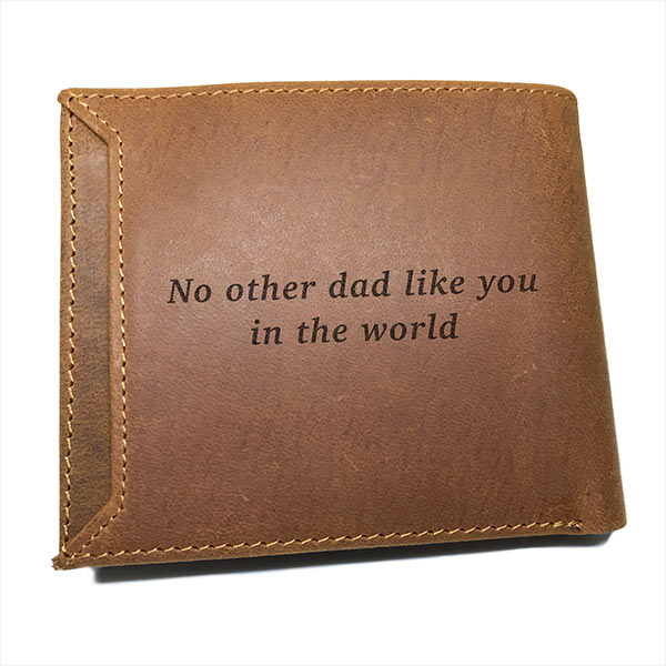 custom print wallet back engraved